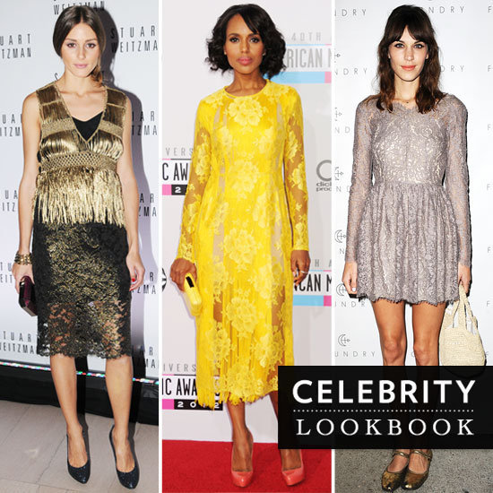 Thinking about donning lace to your next party? Here are our favorite celebrity lace looks to give you some inspiration.