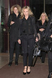 Kate Moss worked her styling magic on an all-black ensemble.