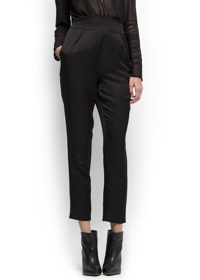 These Mango High-Waist Tuxedo Trousers ($80) can easily take you from day to night; just swap out your work blouse for a dressier top and finish off your look with embellished sandals.