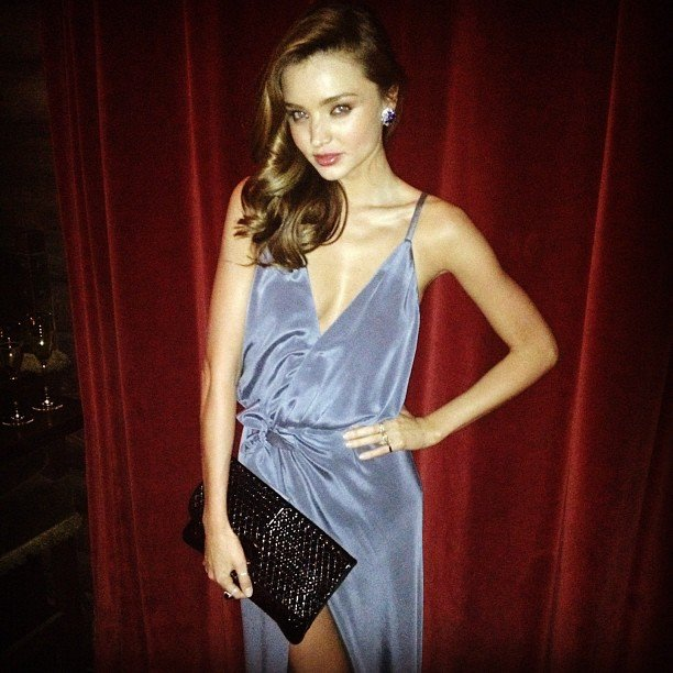 Miranda Kerr was gorgeous in gray at the W Magazine 40th anniversary party.  Source: instagram user mirandakerrverified