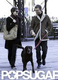 Anne Hathaway and Adam Shulman took their dog for a walk around the Big Apple.