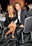Miley and Liam debuted Miley's engagement ring at the Australians in Film Awards in Jun. 2012.