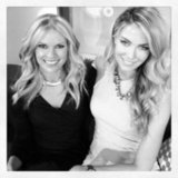 Sonia Kruger and Jennifer Hawkins got comfy on the Mornings couch. Source: Instagram user soniakruger