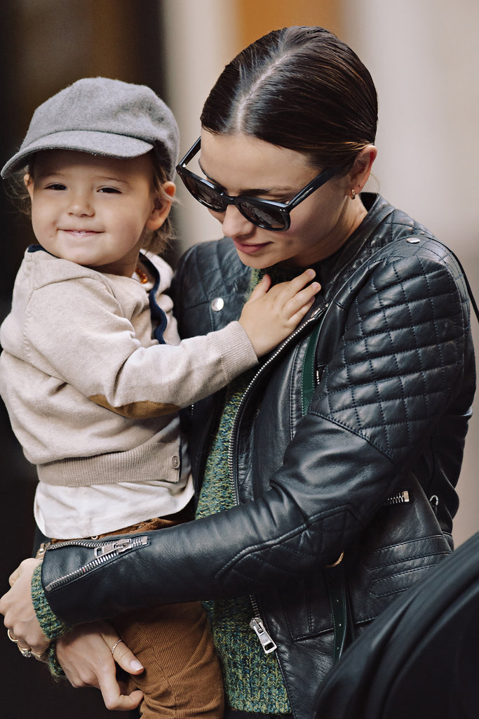 Miranda Kerr Shows Some Leg During Her Latest NYC Outing With Adorable Flynn