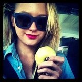 Jesinta Campbell knows that an apple a day. . . Source: Instagram user jesinta_campbell