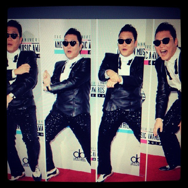 Psy continued with the whole world domination thing at the 2012 American Music Awards.
