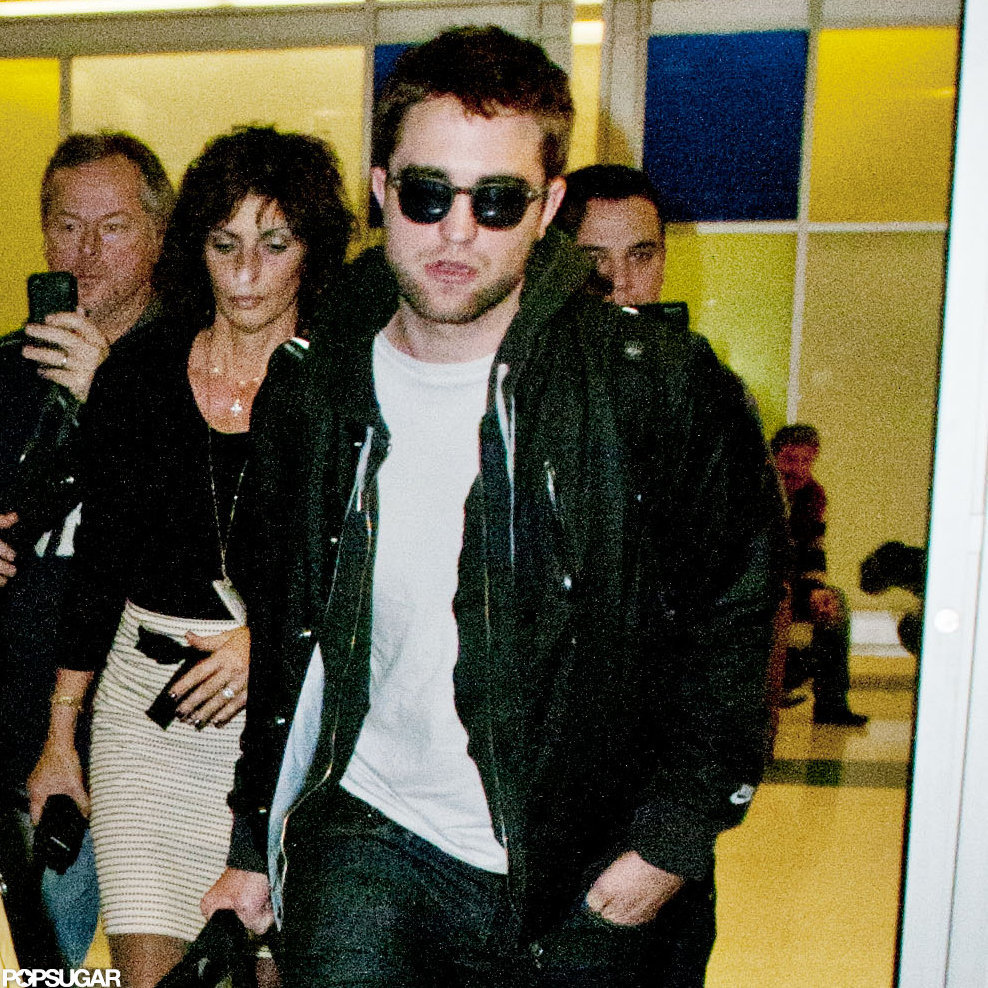 Robert Pattinson wore sunglasses inside a NYC airport.