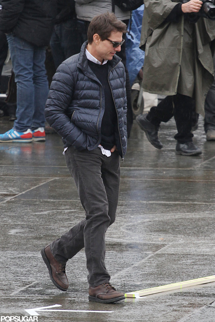 Tom Cruise was on set in London.