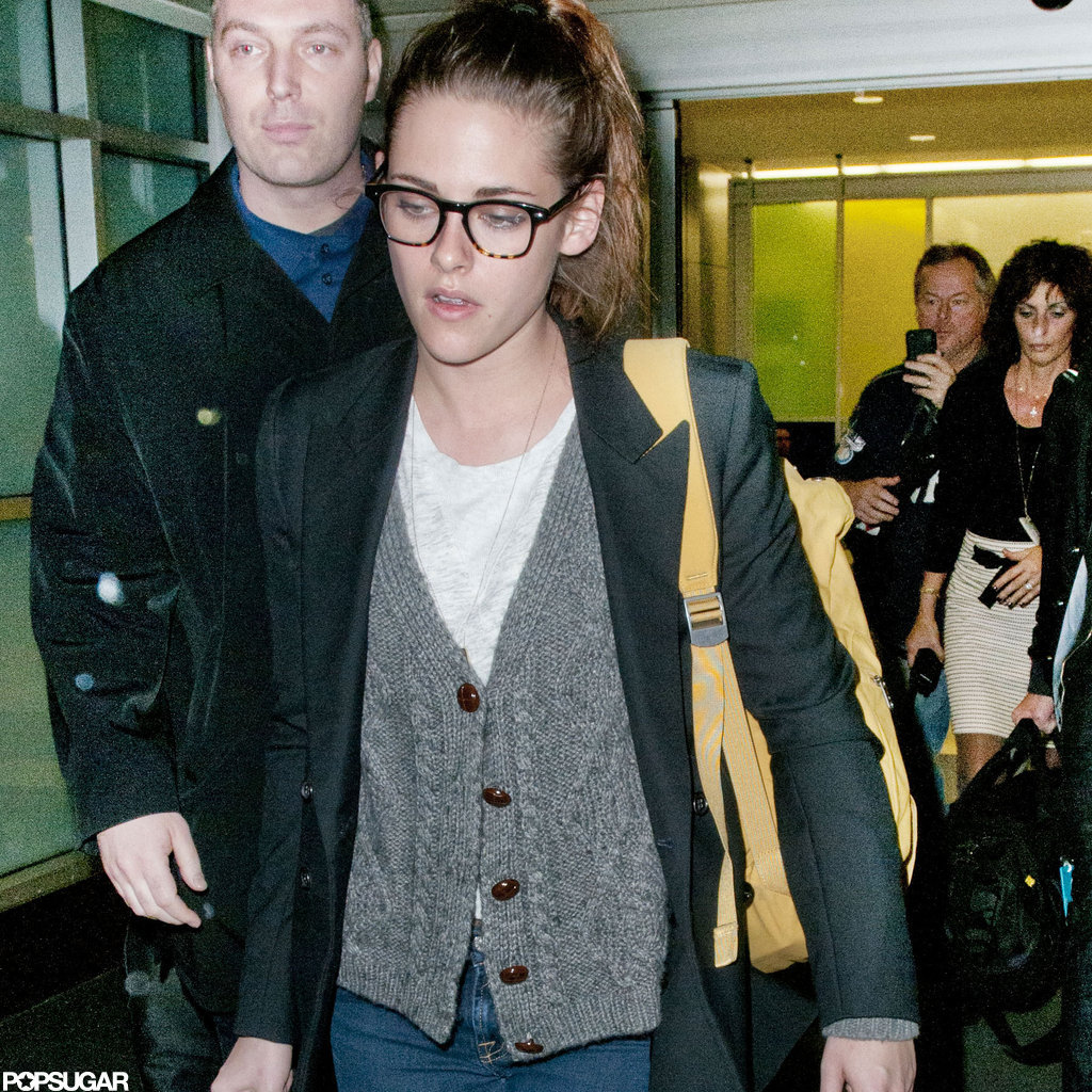 Kristen Stewart arrived in NYC.