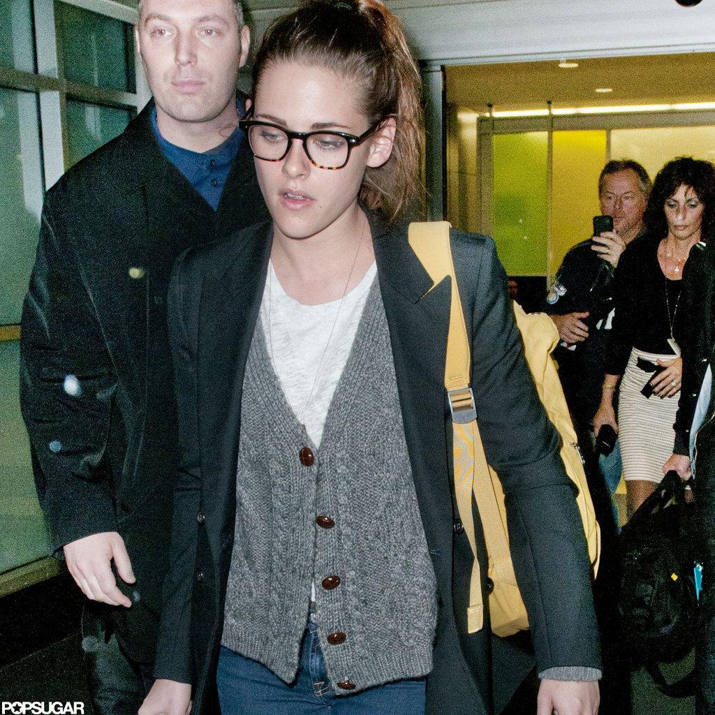 Kristen Stewart arrived in NYC.