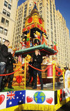 Cody Simpson on a float in the parade.