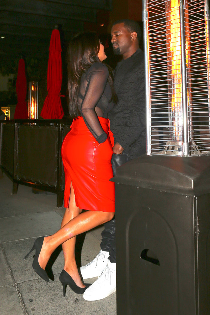 Kim and Kanye Get Into the Holiday Spirit With PDA