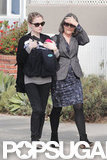 Anna Paquin walked with her mom, Mary Paquin, in LA.