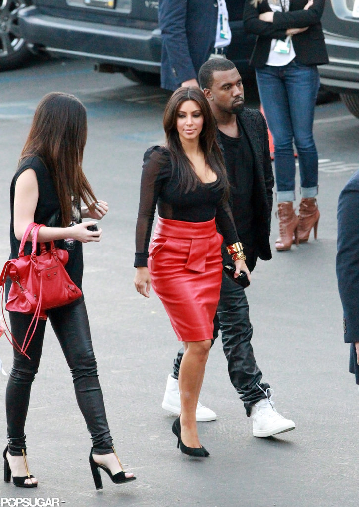 Kim Kardashian stepped out in stilettos.