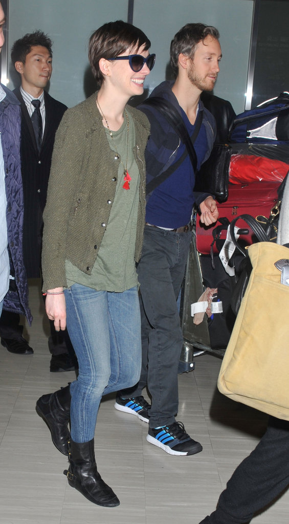 Anne Hathaway landed with Adam Shulman.