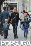 Naomi Watts took Sasha Schreiber and Kai Schreiber along to run errands.