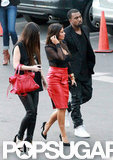 Kim Kardashian and Kanye West arrived at a taping of The X Factor.