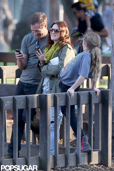 Drew Barrymore and Will Kopelman laughed.