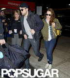 Robert Pattinson and Kristen Stewart caught a flight out of JFK.