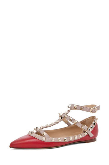 Looking for ladylike with an edge? The Valentino Rockstud ballerina flat ($875) is it.