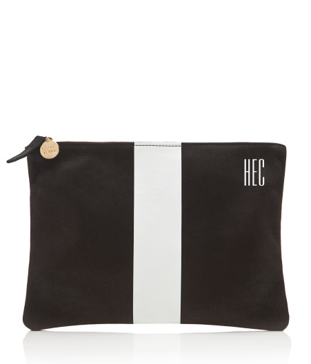 Equal parts chic and simple, this Clare Vivier striped clutch ($331) also comes with an amazing monogram option.