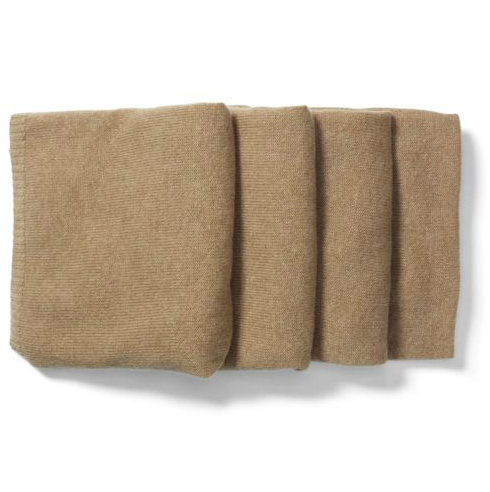 Club Monaco's Celine cashmere camel scarf ($199) is the perfect option for the no-prints gal.