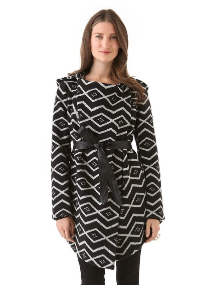 Add some print to your step via this BB Dakota patterned coat ($118).