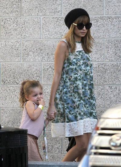 Nicole Richie held Harlow Madden's hand on the way to a concert in LA.