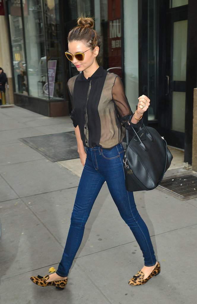 Miranda Kerr Has a Stylish NYC Weekend With Flynn and Frankie