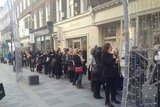 The queue outside!