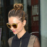 Miranda Kerr's Perfect Hair and Top Knot Hairstyle