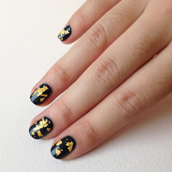 DIY Gold Leaf Nail Art