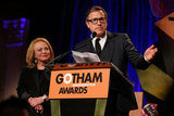 David O. Russell took the stage alongside Jacki Weaver at the Gotham Independent Film Awards in NYC.