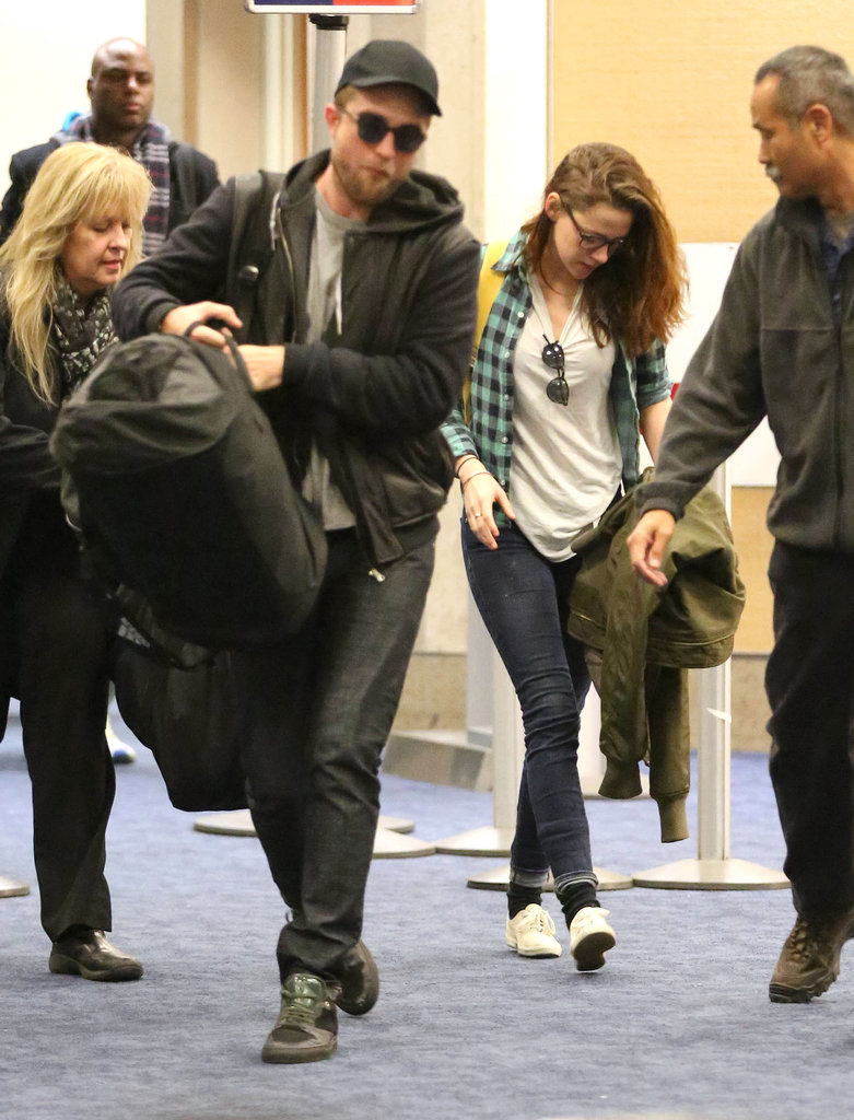 Robert Pattinson and Kristen Stewart landed at LAX.