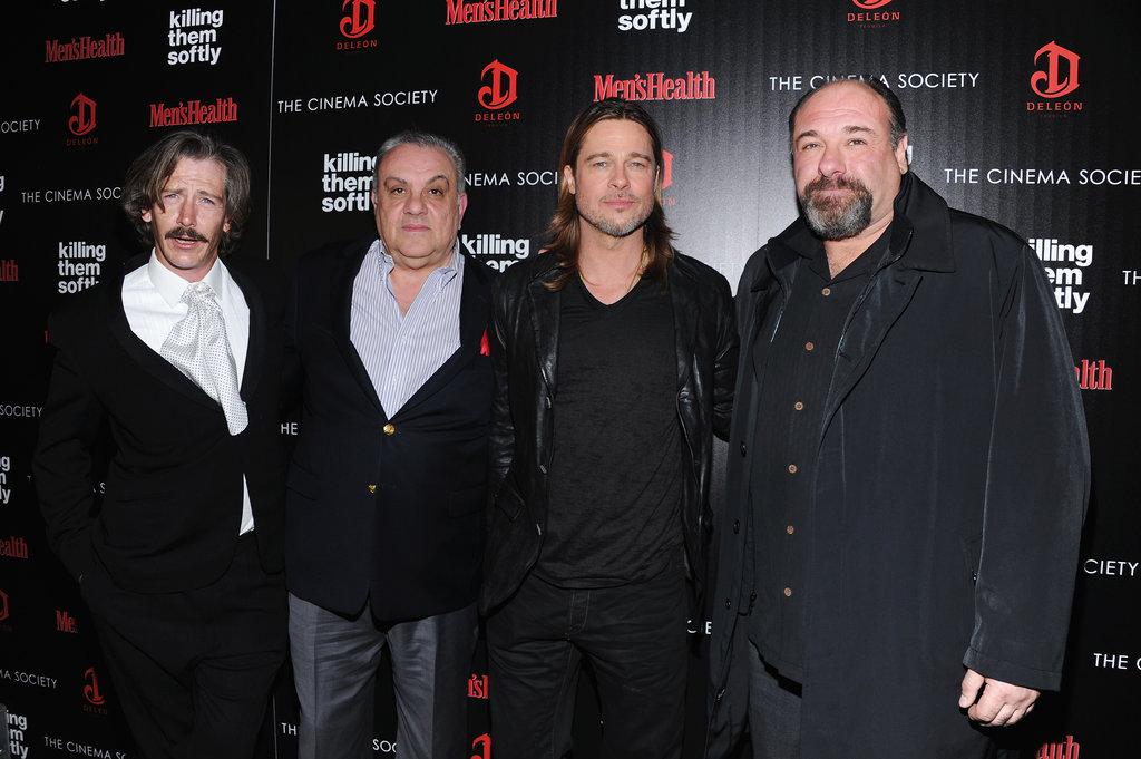 Brad Pitt, Ben Mendelsohn, Vincent Curatola and James Gandolfini were out in NYC.
