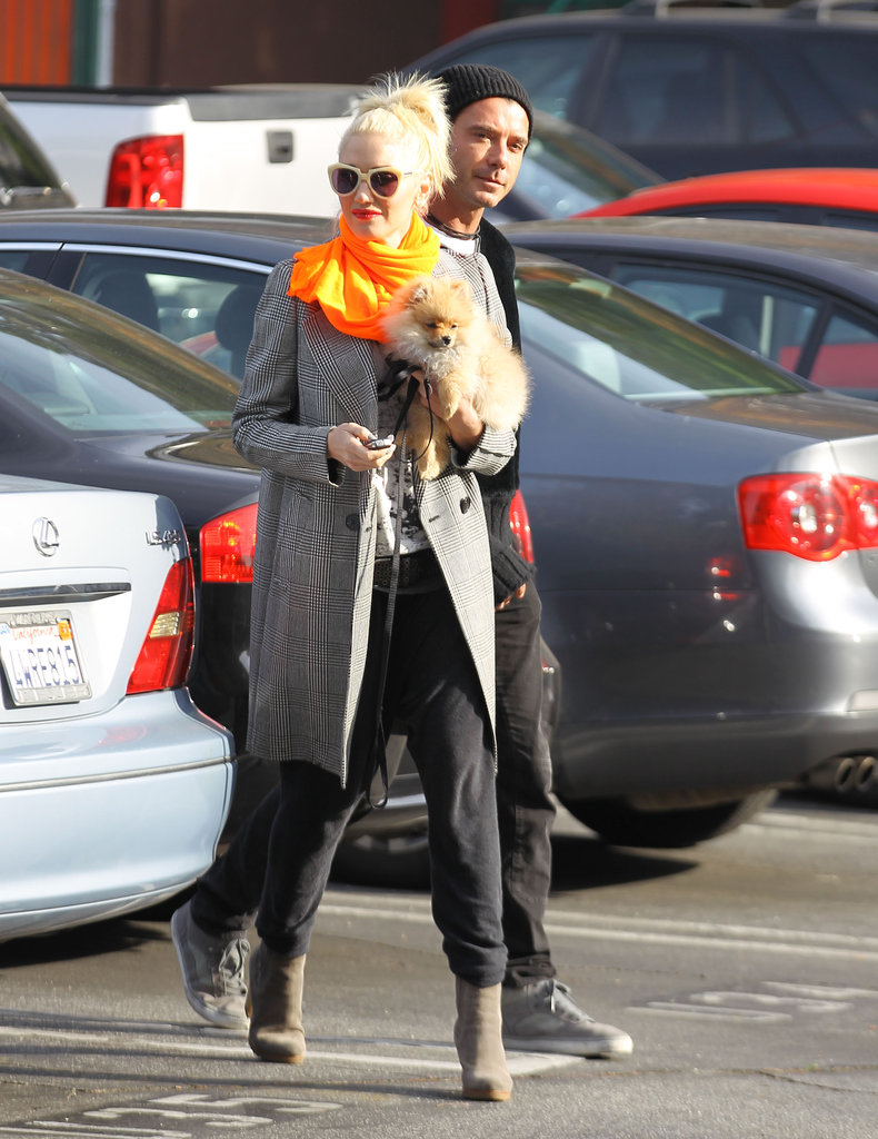 Gwen Stefani and Gavin Rossdale dropped Zuma off at school.