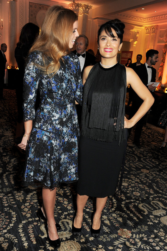 Salma Hayek posed with Princess Beatrice of York at the British Fashion Awards.