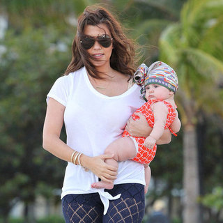 Kourtney Kardashian With Penelope on the Beach in Miami