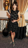 Alexa Chung posed at the winners reception for the British Fashion Awards in London.
