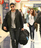 Robert Pattinson and Kristen Stewart made their way through LAX.