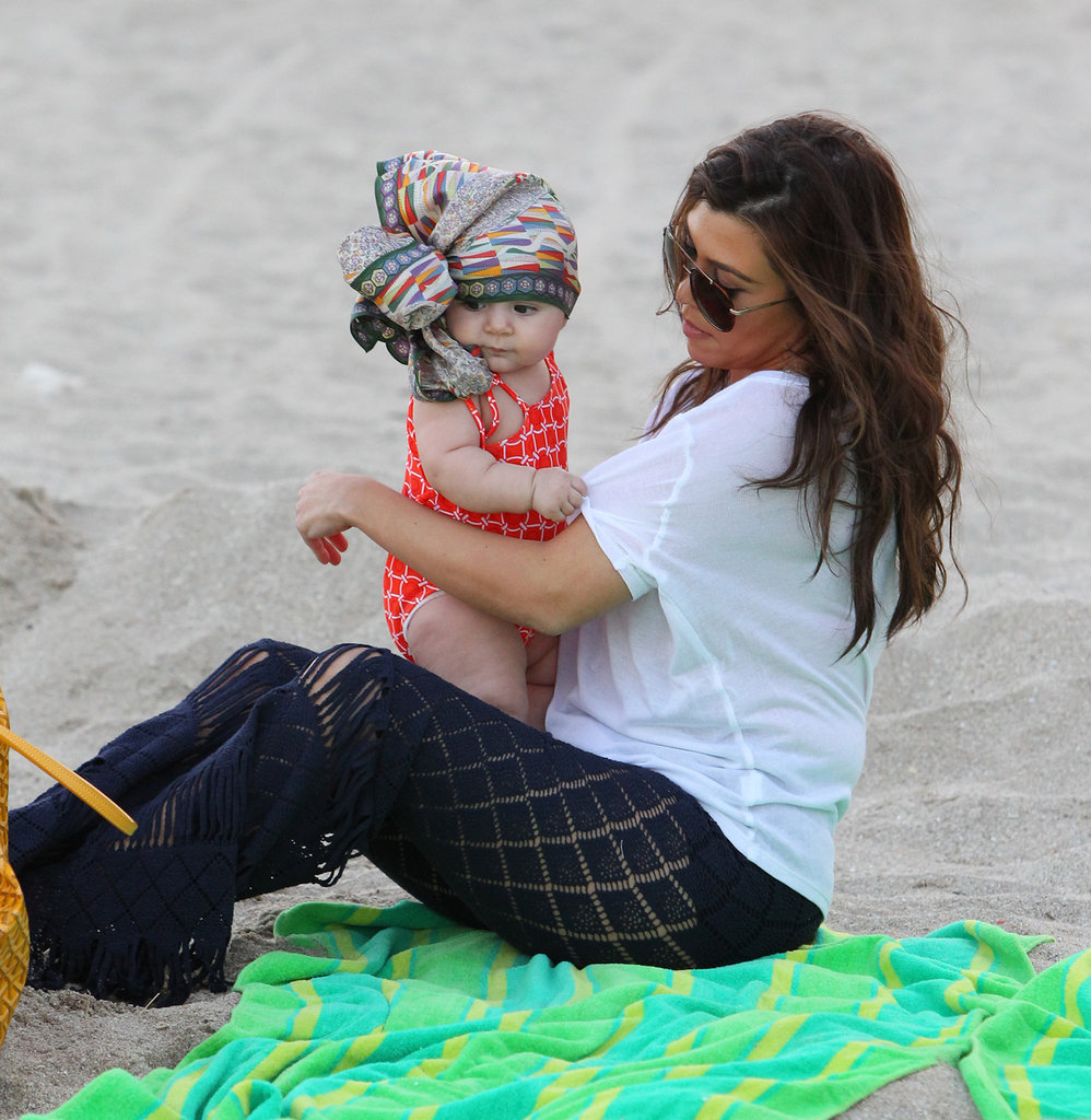 Kourtney Kardashian took Penelope to the beach.