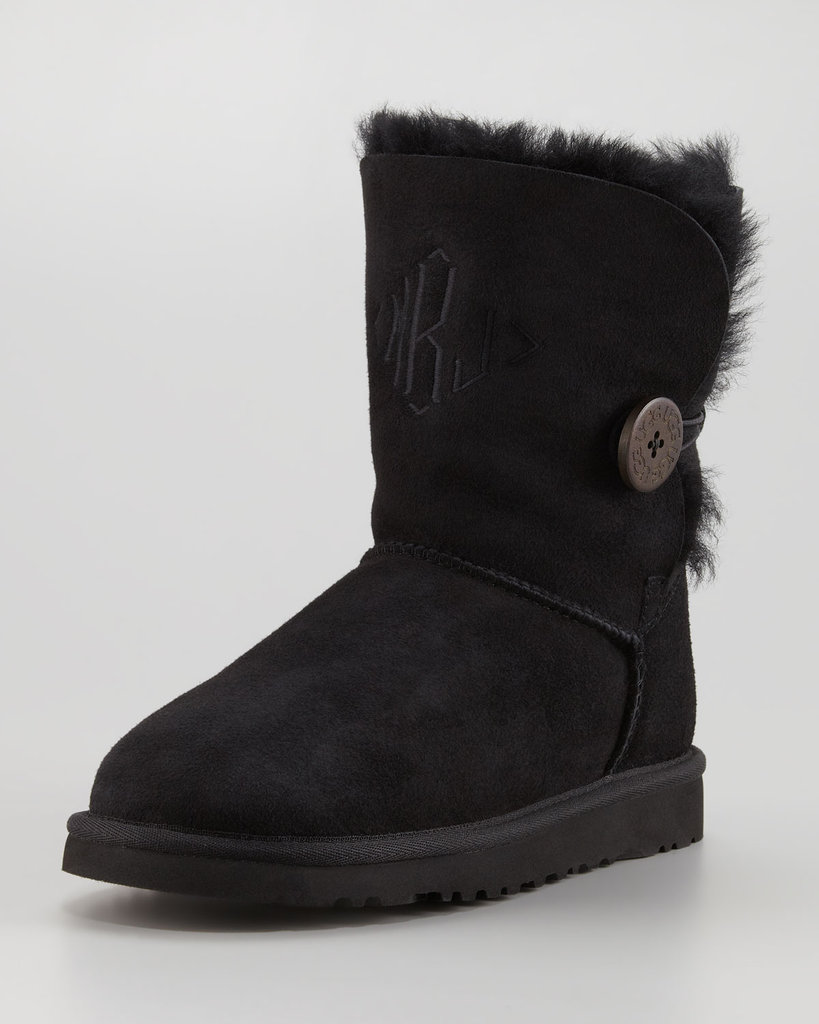 We all have a friend who wears UGG boots. Instead of shunning her out of the fashion world, embrace her with this chic black UGG Australia monogrammed Bailey button short boot ($180) rendition. Much better than those scuffed up camel ones we see on the street, right?
