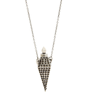 Nicole Richie owns this House of Harlow hammered-diamond vessel necklace ($113, originally $125), which will add instant cool to any of your sister's outfits.