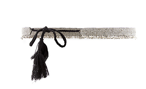 This beaded silver belt from Mango ($40) — which also comes in gold — would add cool ethnic flair to any of your party ensembles.