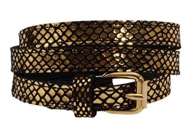 This Black & Brown metallic belt ($48, originally $112) gives off a fabulous snakeskin effect that we can't stop staring at.