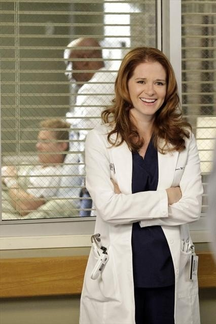 "April Kepner, Grey's Anatomy  Overachieving surgeon April in Grey's Anatomy didn't get her nickname ""Virgin Mary"" for nothing. But her sexual status changes when she decides to sleep with a friend and fellow Seattle Grace surgeon the night before her medical board exams."