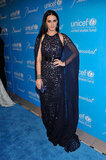 Katy Perry posed at the Unicef Snowflake Ball in NYC.