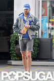 Shia LaBeouf sported scruff and cutoff shorts.