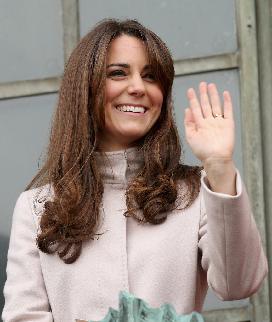 Kate Middleton waved to the crowds in Cambridge.