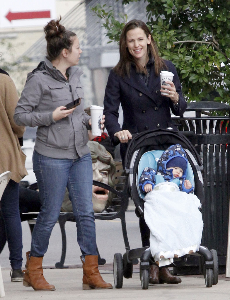 Samuel Affleck stayed behind in New Orleans with Jennifer Garner.